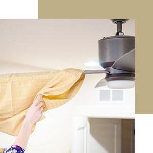 8. Dust Ceiling Fans with a Pillowcase