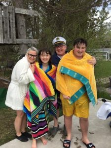 Jump In The Lake Challenge 2022 - Dean Michel & Jennifer Bacon with family
